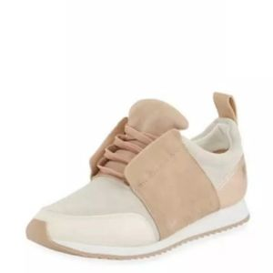 Dolce Vita Sz 7.5 Leather Suede Rose Gold Sneakers